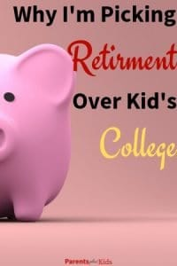 This article gives you tips and advice on why parents should focus on saving for retirement instead of saving for college. Learn why focusing on your personal finance is much better for you and your children. #savingforcollege #savingforretirement #familyfinance