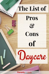 The pros and cons of sending your children to daycare. These are also important when trying to transition your kid to daycare. Transitioning to daycare. #parenting #parentingtips #stayathomemom #newmom #babytodaycare