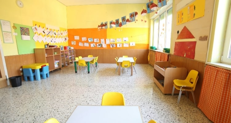an empty daycare room
