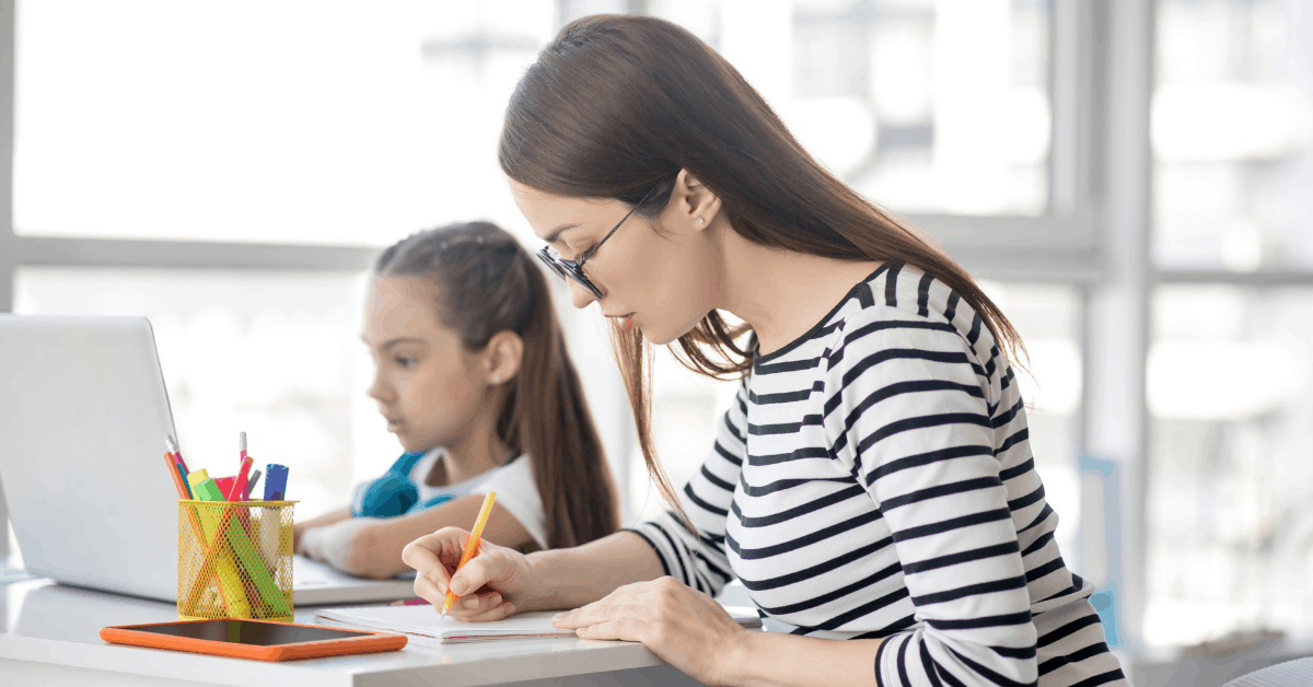 a parent writing a letter