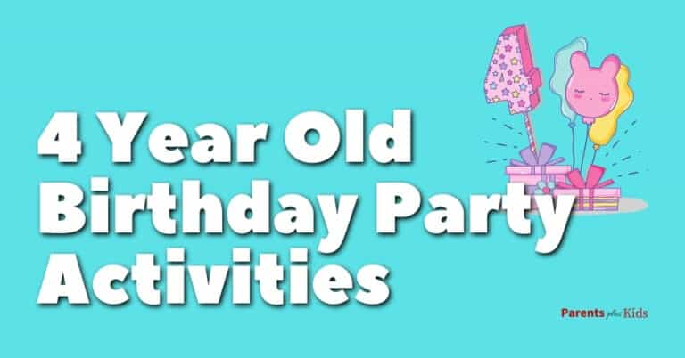 4 yr old bday party activities