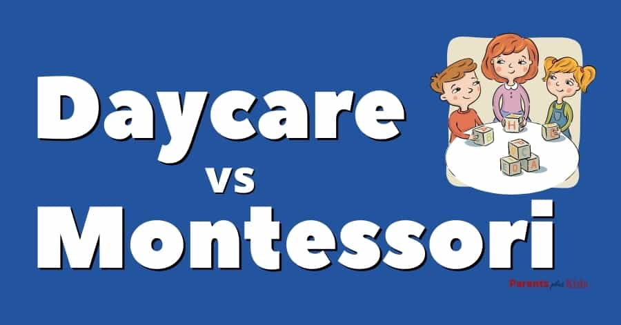 featured image for article daycare center vs montessori place
