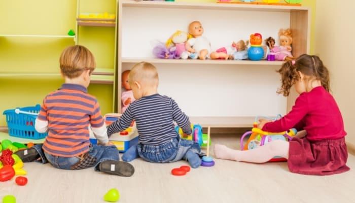 kids playing in nursery school