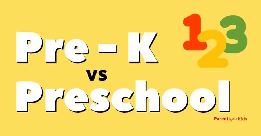 pre-kindergarten vs preschool