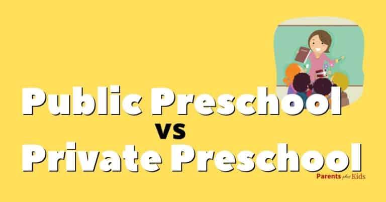 private vs public pre-school