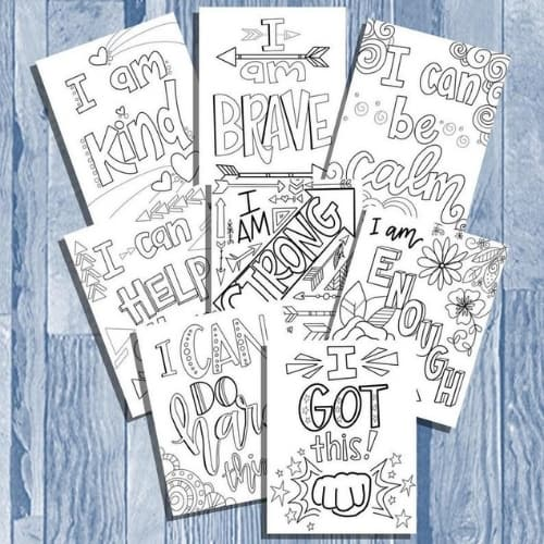 coloring pages affirmation