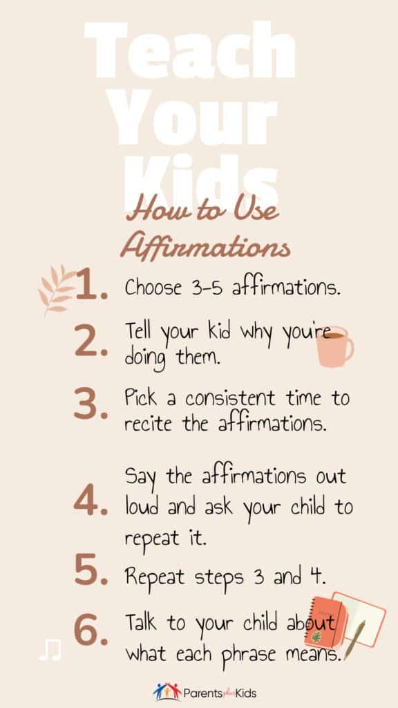 steps to using affirmations with kids