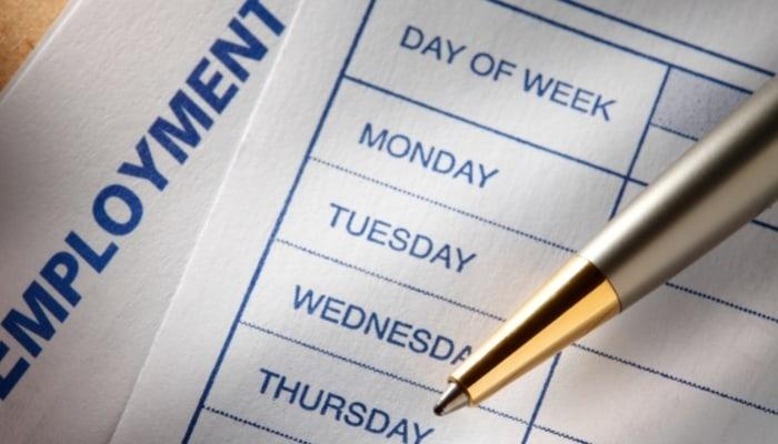 days of week schedule
