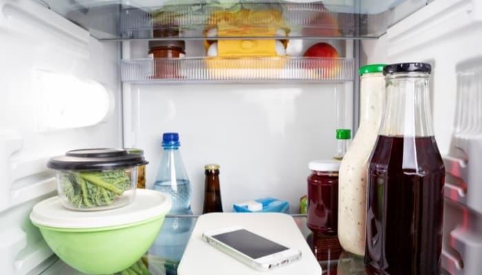 phone found in fridge