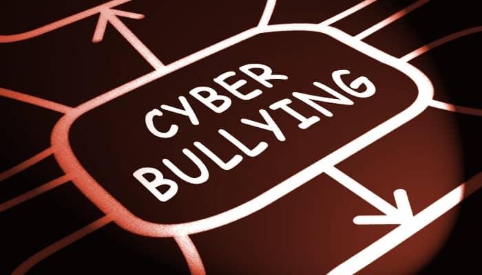 written words cyber bullying