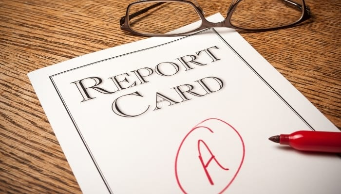 report card grade