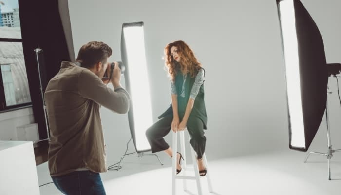 a tween model photoshoot