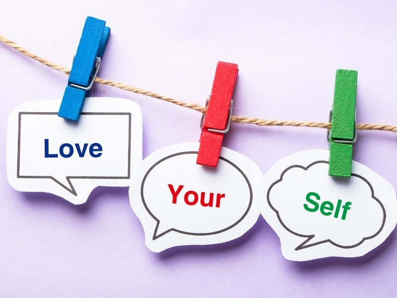 picture of clothes hanger self-esteem love your self