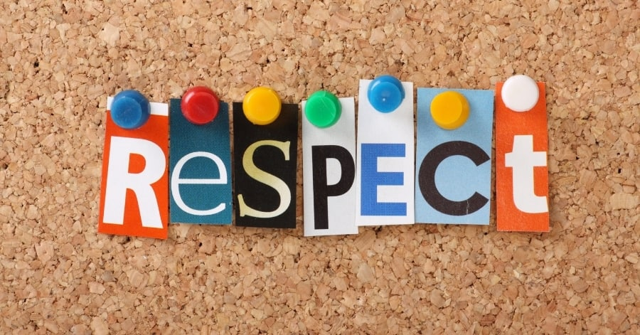 respect spelled out
